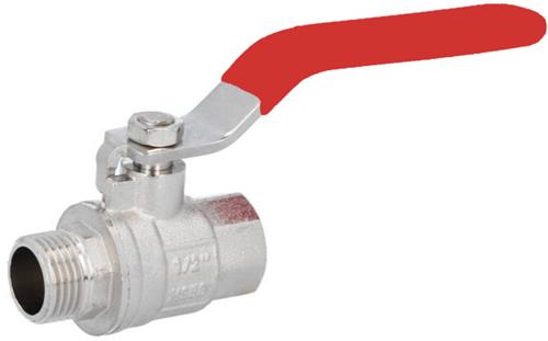 "EBCB111323 Kogelafsluiter 1/2"", PN30, Messing/PTFE-NBR"