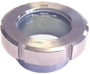 327 Oplas Kijkglas geschroefd DIN11851 melkkoppeling