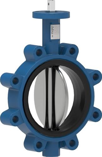 EBL162-DN40-ENJS1030-RVS-EPDM-H Vlinderklep wafer flens DN40