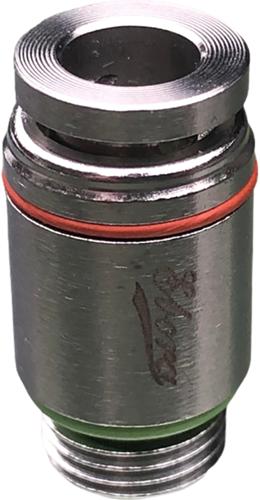 EBSS316-I-6-1/8-RD SS316 rechte insteekkoppeling rond 6-1/8 Rood