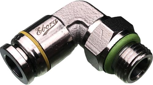 EBSS316-L-6-1/8-YE SS316 haakse insteekkoppeling 6-1/8 Geel