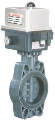 FE-CE Vlinderklep PVC elektrisch bediend