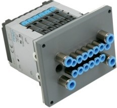 Festo CPV ventieleiland met pneumapole doorvoerplaat
