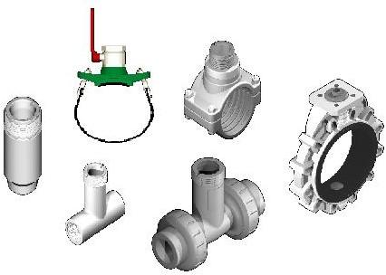Fittingen voor flowmeters