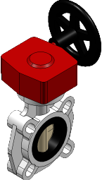 FKOMRM400E PP Vlinderklep FKOM/RM wormwielkast EPDM d400