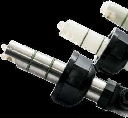 DF100.232.02 Peddelwiel flowsensor DF100.232.02 PVDF/EPDM met pulsuitgang NPN, IP68 Coil versie