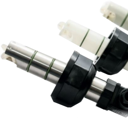 DF100.431.02 Peddelwiel flowsensor DF100431.02 PVDF/FPM met pulsuitgang en 0-20mA, 4-20mA, 0-5V of 0-10V, IP68