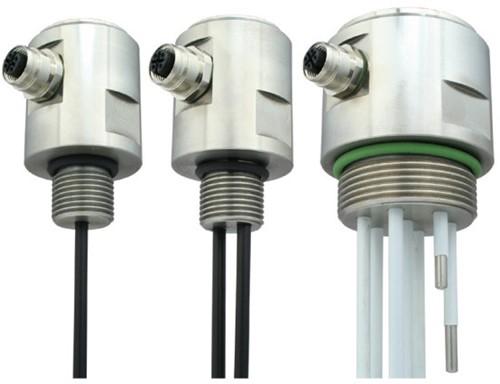 GVA conductieve niveausensor RVS met RVS electroden en M12 connector