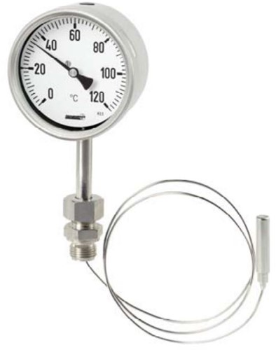 Hengesbach Gasdruk thermometer met lange afstandslijn - Type TFB, TFBG, TFC, TFCG