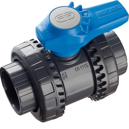 VEEFV114E PVC 2-weg water kogelkraan VEEFV EPDM  binnendraad 1¼