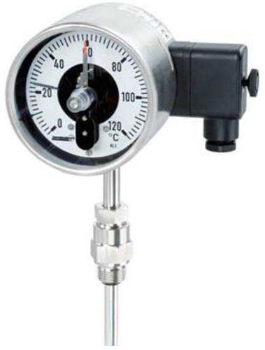 Hengesbach Manometer RVS met Inductief contact/elektronisch schakelcontact