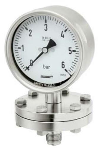 Hengesbach Diafragma-manometer EN 837-3, 100/160 mm Versie voor chemische toepassingen - Type PC ...-