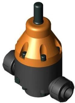 146368 PVC-U Drukhoudventiel DHV712R d25 PN10 PTFE/FPM 0,3-10 bar Sok