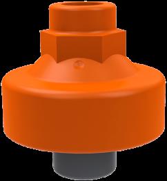 """212970 PVC-U Membraandrukopnemer MDM902 d25 -1/4"""""""" -1/4"""""""" EPDM/PTFE Lijmeind/bi dr"""