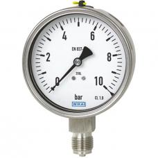 Wika Bourdon tube pressure gauge, stainless steel Models 232.50, 233.50