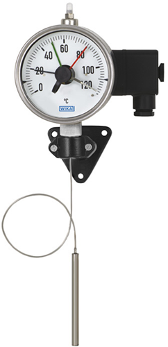 Wika Model 70-8xx Expansion thermometer with micro switch and capillary