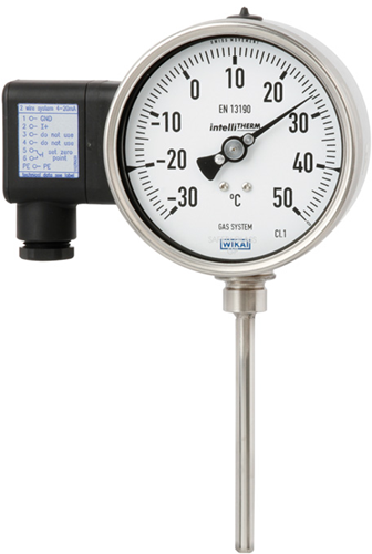 Wika Model TGT73 Gas-actuated thermometer with electrical output signal