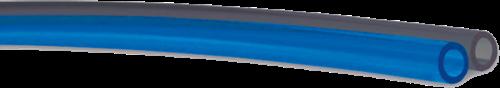 PUR-DUO 8x6mm zwart/blauw Cobra Polyester-Polyurethan