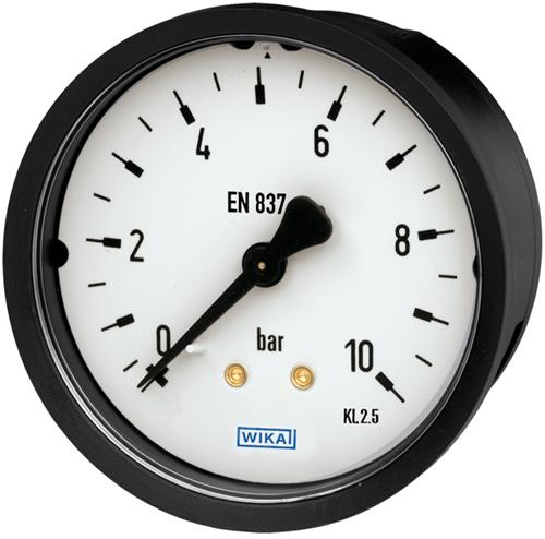 Bourdon tube pressure gauge, copper alloy Panel mounting series