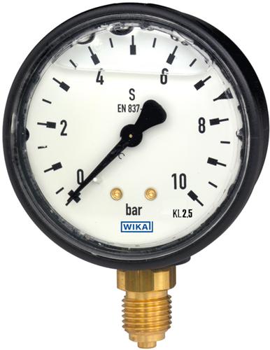 Bourdon tube pressure gauge, copper alloy Plastic case