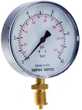 Spirax Sarco Manometer SY / SYKIT en kit voor manometer