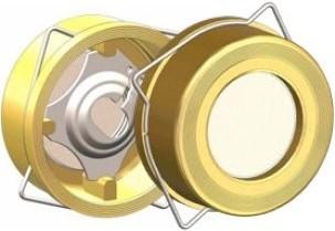 58 331 604 NBR Disco check valve Typ 931 DN40 Brass/1.4301/NBR