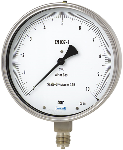 Test gauge, stainless steel