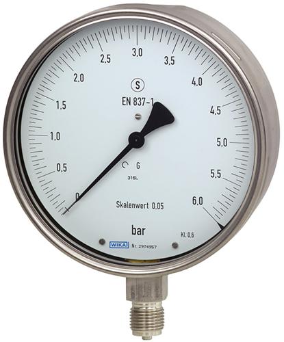Test gauge, stainless steel, Model 332.30