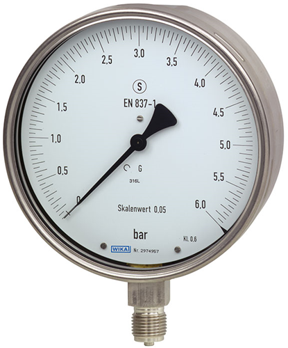 Wika Test manometer, RVS Model 332.30, 333.30