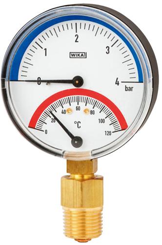 Wika Thermomanometer, Model 100.0x