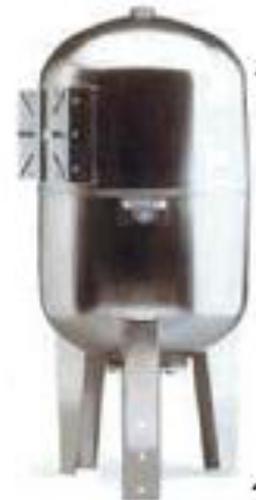 11100010002 RVS drukvat Hydro Plus Inox TM 100 l vertikaal